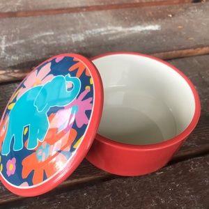 Belk ceramic elephant trinket jar